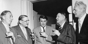 The Faber Poets. Louis McNeice, T.S. Eliot, Ted Hughes, W.H.Auden, Stephen Spender, 1960 (photo)